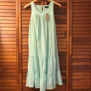 NWT J. CREW tiered flutter beach dress medium